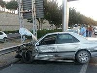 تصادف عجیب و غریب ۷ خودرو در جاده تهران ـ کرج +تصاویر