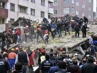 فروریختن ساختمان در استانبول +تصاویر