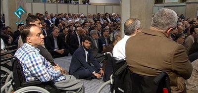 حضور مداح جنجالی در مراسم تنفیذ +عکس