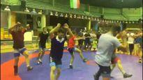 رقص ملیپوشان کشتی ایران! +فیلم