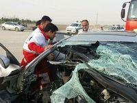 ۱فوتی و ۴مصدوم در تصادف رانندگی