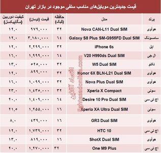 جدیدترین موبایلهای مناسب سلفی چند ؟ +قیمت