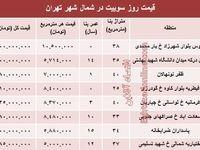 سوییتهای شمال شهر تهران چند؟ +جدول