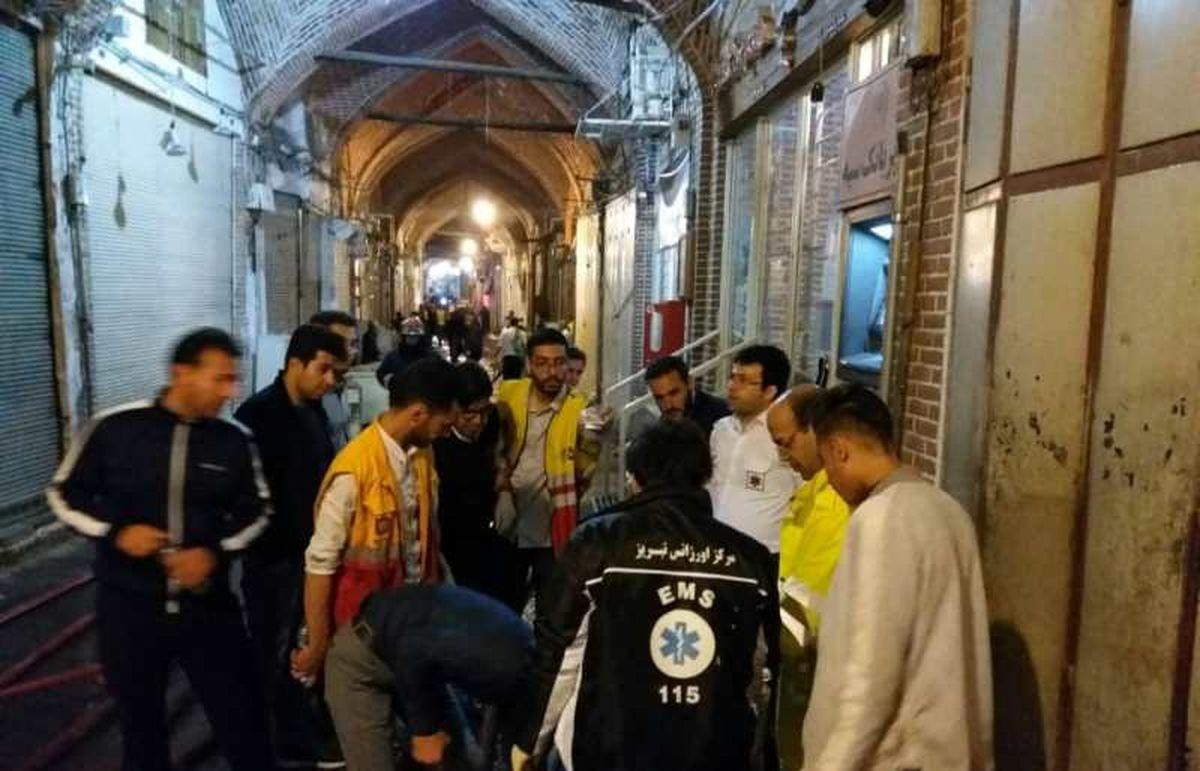 شمار مصدومان آتش سوزی بازار تبریز به 16نفر رسید