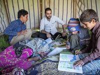 معلم کوچ نشین عشایر کرمانشاه +عکس