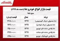قیمت جدید دنا در تهران +جدول