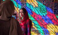 گردشگران نوروزی در مسجد نصیرالملک شیراز +تصاویر