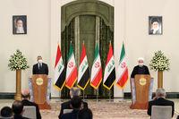 نشست خبری مشترک روحانی و نخست وزیر عراق +عکس
