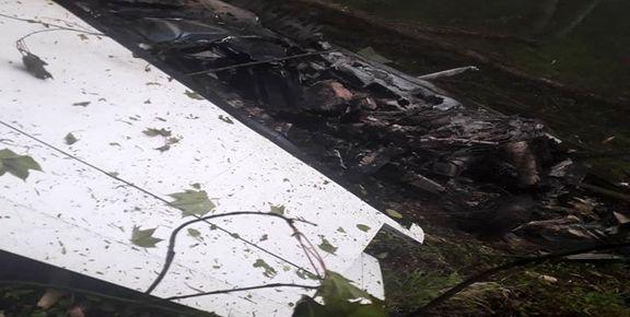 تصاویر لاشه هواپیمای ناجا در نوشهر
