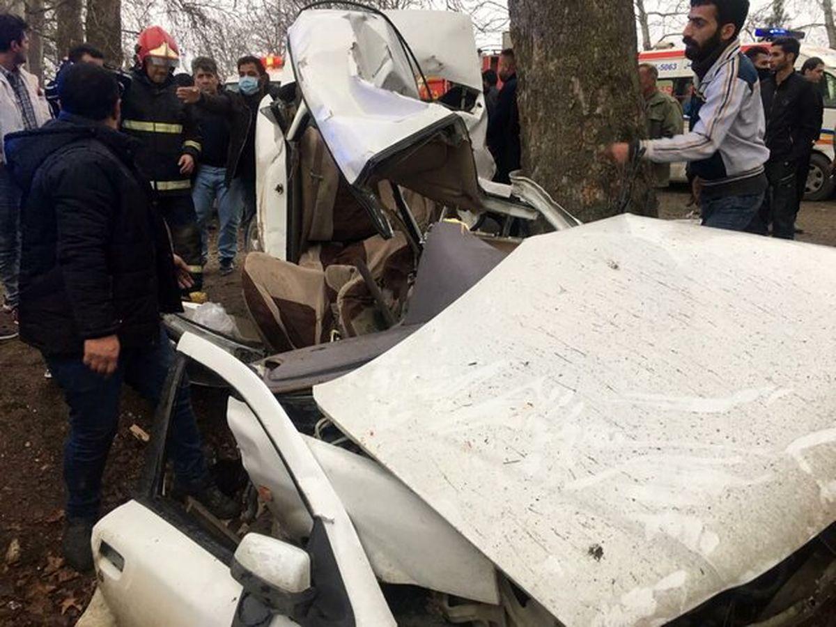 واژگونی خودرو ۳کشته برجا گذاشت