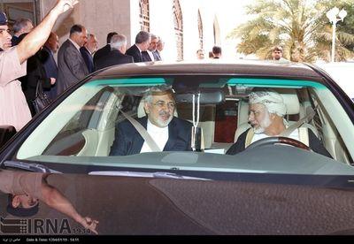رانندگی وزیر خارجه عمان برای ظریف +عکس