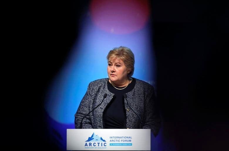 Norway's Prime Minister Erna Solberg, in office since October 16, 2003. REUTERS/Anton Vaganov