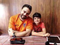 سلفی شاد بابک جهانبخش و پسرش +عکس
