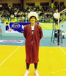 سردار آزمون با لباس سنتی ترکمن +عکس