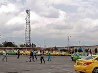 تأثیر اقتصادی کرونا بر رانندگان تاکسی فرودگاه +تصاویر