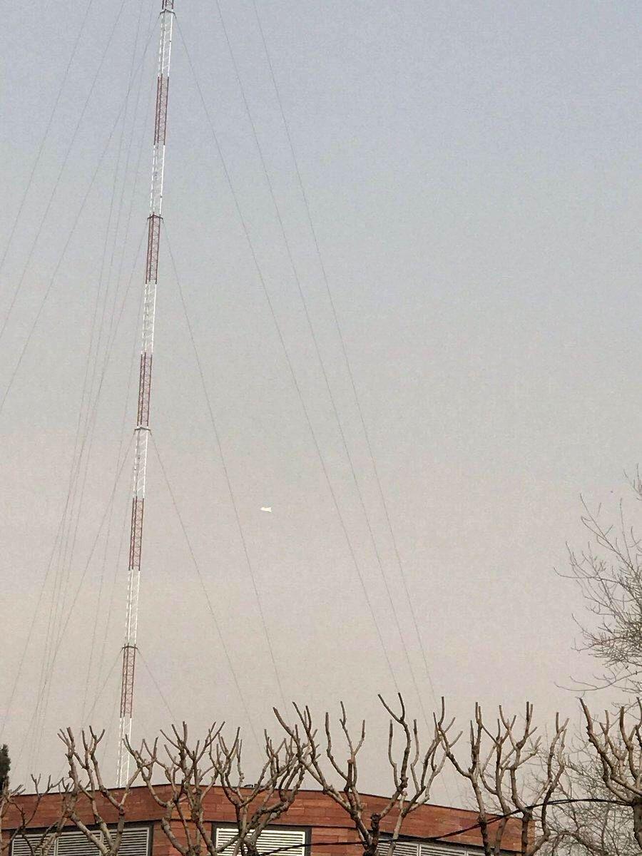 منبع آگاه: شی مشکوک در آسمان پایتخت، بالن ارتباطی است