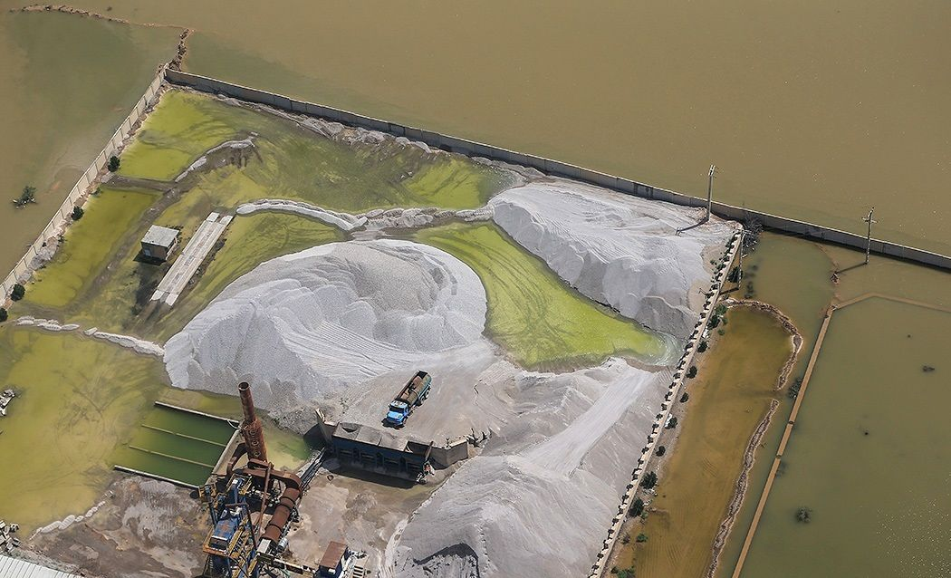تصاویر هوایی از سیل اهواز