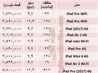 تبلتهای جدید اپل چند؟+جدول
