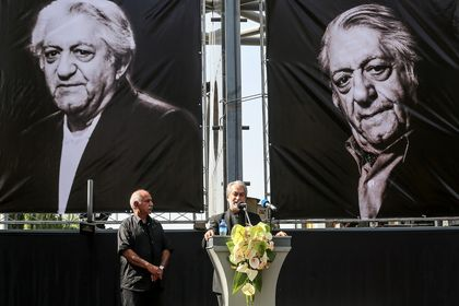 چهرهها در مراسم وداع با عزتالله انتظامی +تصاویر