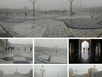 مه غلیظ صبحگاهی در حرم مطهر رضوی(ع) +عکس