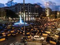 اعتصاب به سبک راننده تاکسیهای اسپانیا +تصاویر