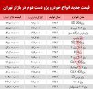 قیمت انواع پژو دست دوم در بازار تهران +جدول