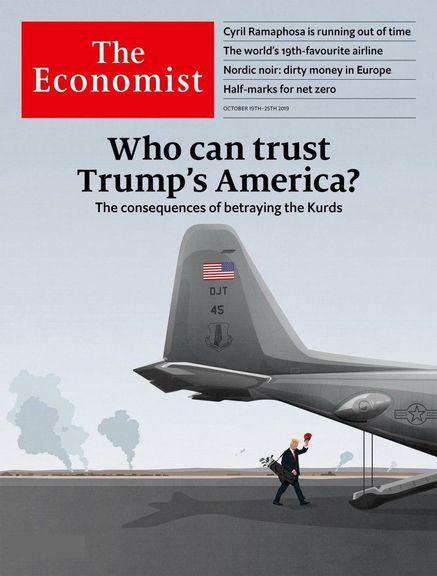 جلد نشریه «اکونومیست»؛ تبعات خیانت به کُردها