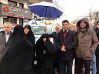 خانواده مرحوم هاشمی رفسنجانی در راهپیمایی امروز +عکس