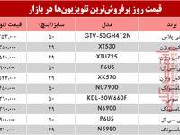 قیمت انواع تلویزیون دربازار ؟ +جدول