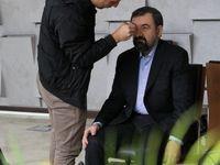 محسن رضایی در پشت صحنه حالا خورشید +عکس