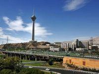 باران شدید در بزرگراه همت تهران +فیلم