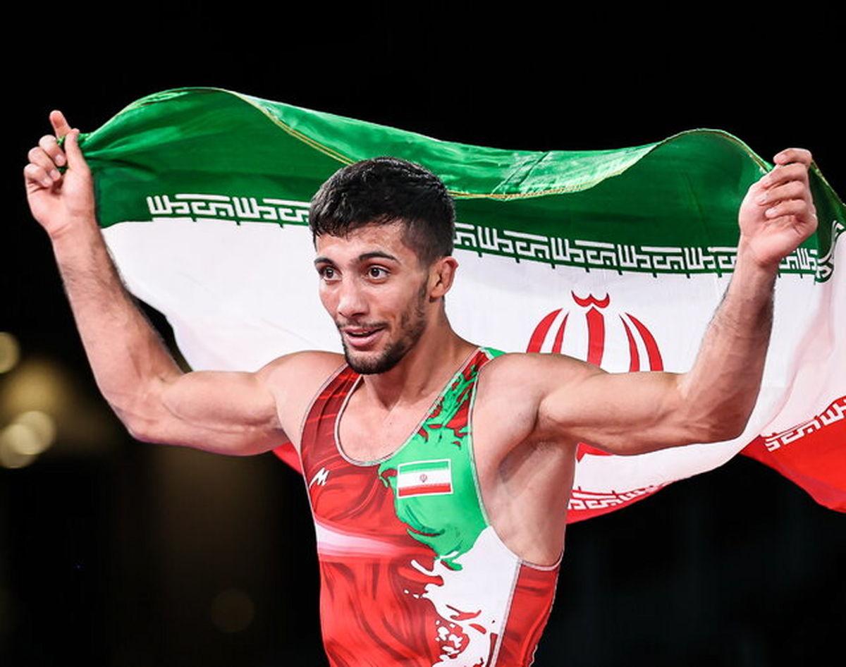 مدال طلا بر گردن محمدرضا گرایی + عکس