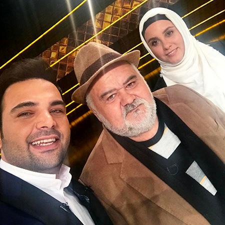 احسان علیخانی در کنار اکبر عبدی و دخترش + عکس
