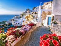 جزایر شگفتانگیز سانتورینی در یونان +تصاویر