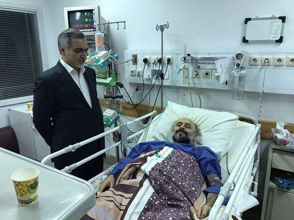 عیادت حسین فریدون از حجتالاسلام نقویان در بیمارستان +تصویر