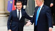 برخورد جالب ترامپ و ماکرون در فرانسه +فیلم