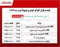 تویوتا در بازار تهران چند قیمتگذاری شد؟ +جدول