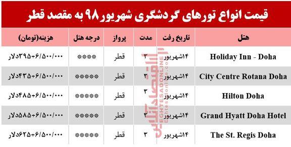 تور قطر چقدر هزینه دارد؟