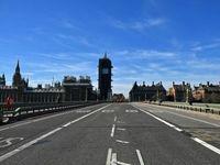 خیابان مرکزی لندن خالی از رفت و آمد +عکس