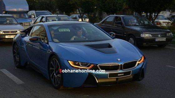 تردد BMW i8 بدون پلاک +عکس