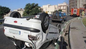 واژگونی خودرو ۵نفر را راهی بیمارستان کرد