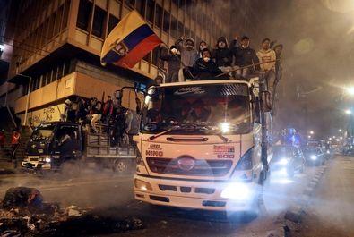 تضاهرات مردم اکوادور در اعتراض به دولت