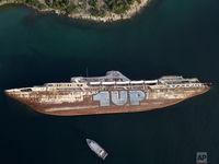 کشتیهای به گل نشسته یونانی +تصاویر