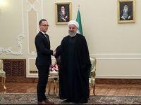 توییت وزارت خارجه آلمان از دیدار ماس با روحانی