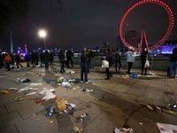 تصاویری متفاوت از لندن در شب سال نو میلادی +تصاویر