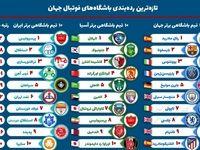 رتبه جهانی تیمهای فوتبال ایرانی چند است؟