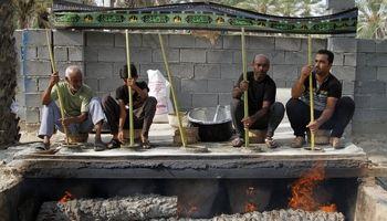 طبخ حلیم سنتی متفاوت در فین بندرعباس +تصاویر