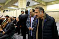 مهران غفوریان و مهران رجبی در دیدار امروز مسئولان نظام با رهبر انقلاب+عکس