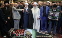 حضور ناطق نوری در مراسم تشییع عسگراولادی +عکس