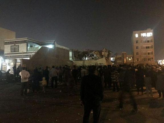 انفجار یک ساختمان ۲ طبقه در اهواز +عکس